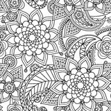 Seamless asian paisley pattern Stock Images