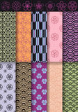 Seamless asian patterns, vector Stock Photo