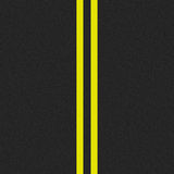 Seamless asphalt road. With yellow lines royalty free illustration