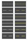 Seamless Asphalt Road Textures vector illustration