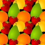 Seamless assorted fruits background Royalty Free Stock Photos