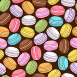 Seamless assorted macarons pattern Stock Photo