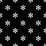 Seamless asterisk sign pattern on black. Background Stock Images