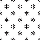 Seamless asterisk sign pattern on white. Background Royalty Free Stock Photo
