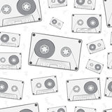 Seamless audio cassettes Stock Photo
