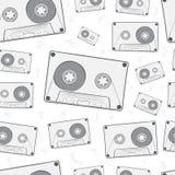 Seamless audio cassettes Stock Photo