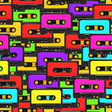 Seamless audio tape background Stock Photography