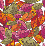 Seamless autumn background Stock Images