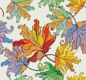 Seamless autumn background Stock Photos
