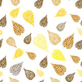 Seamless autumn background. Seamless autumn leaves colorful background Royalty Free Stock Photos