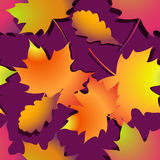 Seamless autumn background with leaves stock illustration