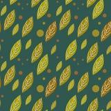 Seamless  autumn falling leaves pattern Royalty Free Stock Photo