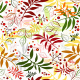 Seamless autumn floral pattern Stock Image