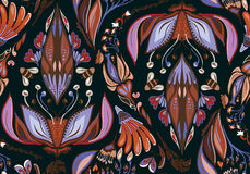 Seamless Autumn Flower Pattern Royalty Free Stock Images