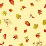 Seamless Autumn Foliage Pattern Stock Photography