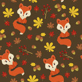 Seamless autumn forest pattern Royalty Free Stock Photo
