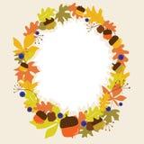 Seamless autumn frame Stock Photo
