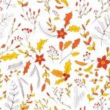 Seamless autumn garden pattern Royalty Free Stock Photo
