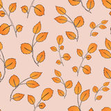 Seamless autumn leaf pattern. Vector illustration Royalty Free Stock Photos