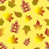 Seamless autumn leafs pattern Royalty Free Stock Photography