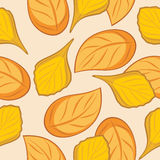 Seamless autumn leafy background for wrap design Stock Photo