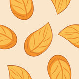 Seamless autumn leafy texture for wrap design royalty free stock photography