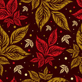 Seamless autumn leaves background. Thanksgiving royalty free illustration