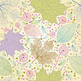 Seamless autumn leaves pattern. Stock Images