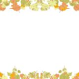 Seamless autumn leaves pattern. Royalty Free Stock Photography