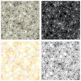 Seamless autumn leaves pattern set Royalty Free Stock Images