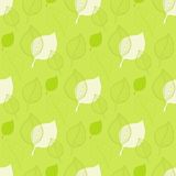 Seamless Autumn pattern,abstract green leaf Stock Images