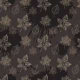 Seamless Autumn pattern:abstract leaf Royalty Free Stock Images