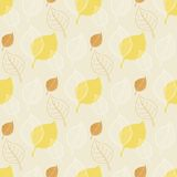 Seamless Autumn pattern,abstract yellow leaf,leaf Stock Photography
