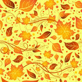 Seamless autumn pattern. Royalty Free Stock Image