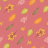 Seamless autumn pattern. Autumn leaves royalty free illustration