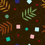Seamless autumn pattern Stock Photos