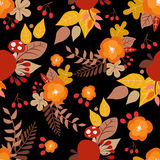 Seamless autumn pattern. Nature art Royalty Free Stock Photo