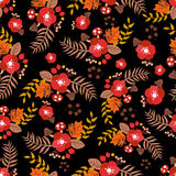 Seamless autumn pattern. Nature backdrop Royalty Free Stock Image