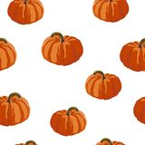 Seamless autumn pattern with pumpkins. Halloween. Vector illustration. White background royalty free illustration