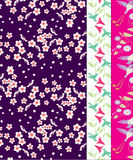 Seamless Autumn Pattern Swatches Stock Photography
