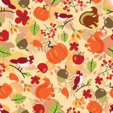 Seamless autumn pattern Stock Photography