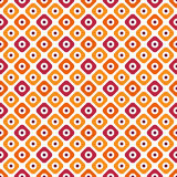 Seamless autumn pattern. Vector geometric endless texture in orange colors Royalty Free Stock Image