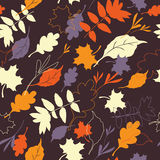 Seamless autumn pattern Stock Photo