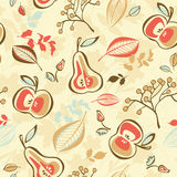 Seamless autumn pattern. Vector illustration Royalty Free Stock Image