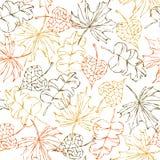 Seamless autumn pattern Stock Images