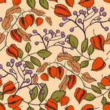 Seamless autumn pattern Royalty Free Stock Images