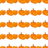Seamless autumn pumpkin seamless pattern. Seamless patterns are used in textile design, postcards, calendars, websites. Wallpapers, packages, backgrounds Stock Images