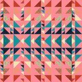 Seamless autumn triangle pattern abstract background with geometric texture memphis pastel trendy. Beauty and unique pattern stock illustration