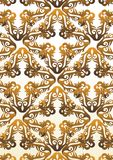 Seamless autumn vector pattern Royalty Free Stock Image