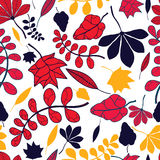 Seamless autumnal leaves pattern Stock Image